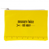 Measure Twice Cut Once Glam Bag