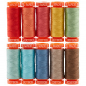 AURIfil Lori Holt Prim Thread Collection