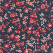 Bricolage - Trailing Flowers Navy Yardage