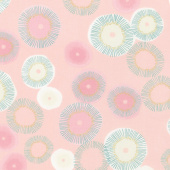 Day in Paris - Blooming Bubble Gum Metallic Yardage