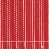So Ruby - Stripe Red Yardage