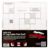 "Creative Grids Log Cabin Trim Tool for 8"" X 8"" Finished Blocks"