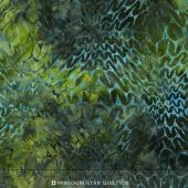 Malam Batiks IV - Water Ogee Green Yardage