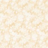 Eliza - Floral Toile Latte Yardage