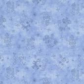 Roly-Poly Snowmen - Snowmen Fun Blue Yardage