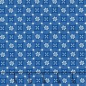 Kimberbell Basics - Dotted Circles Blue Yardage