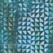 River Valley Batiks - Triangle Cool Waters Yardage
