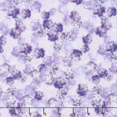 Violet Twilight - Pearly Blooms Lilac Pearlized Yardage