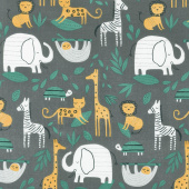 Wild About You - Gone Wild Charcoal Yardage