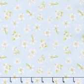 Berry Sweet - Floral Blue Yardage