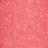 "Granny Chic - Vintage Embroidery Pink 108"" Wide Backing"