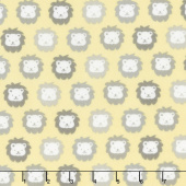 Cozy Cotton Flannels - Yellow Lions Yardage