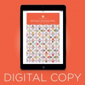 Digital Download - Broken Orange Peel Quilt Pattern by MSQC