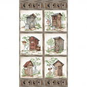 Nature's Calling - Outhouse Block Beige Panel