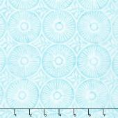 Longitude Batiks - Aqua Circles Rayon Yardage