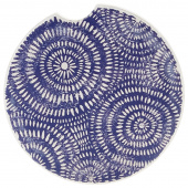 Indigo Patterns Car Coaster - Spirals