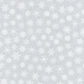 Snow Is Falling - Stars Grey Yardage