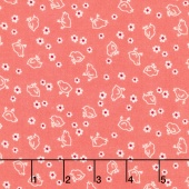 "Bee Backing and Borders - Chick Coral 108"" Wide Backing"