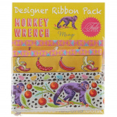 Tula Pink Monkey Wrench Designer Ribbon Pack - Mango