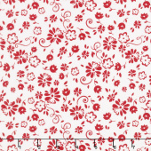 So Ruby - Floral White Yardage
