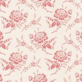 Red Elegance - Rose Cream Yardage