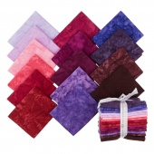 Artisan Batiks Solids - Prisma Dyes Plum Perfect Batiks Fat Quarter Bundle