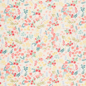 Flower Market - Wallpaper Cream Yardage