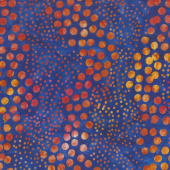 Artisan Batiks - Round and Around Dots Blue Yardage