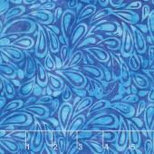 Moroccan Bazaar Batiks - Paisley Drops Mystic Yardage