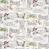 Couturiere Parisienne - Cartes Postales Cream Yardage