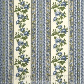 Belcourt - Wallpaper Stripe Dusty Blue Yardage