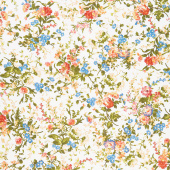 Belle Epoque - Medium Floral Cream Yardage