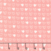 Soft & Sweet - Pink I Heart U Pink Flannel Yardage
