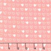 Soft & Sweet - Pink I Heart U Pink Flannel Yardage