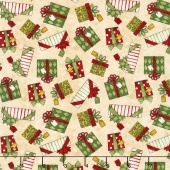 Santa's Big Night - Gift Toss Tan Yardage
