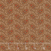 Lancaster - Leaf Vine Brown Yardage