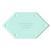 """Sue Daley Elongated Hexagon 1 3/8"""" Template Only"""