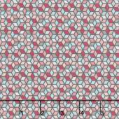 Paper Daisies - Geometric Gray Yardage