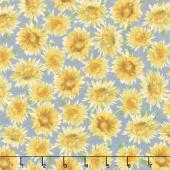 Bee My Sunshine - Sunflowers Grey Yardage