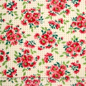 Bread 'N Butter - Dotted Daisy Ivory Yardage