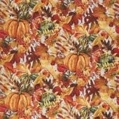 Our Autumn Friends - Pumpkin Patch Taupe Yardage