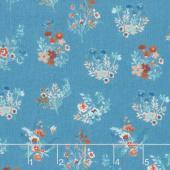 Birdsong - Bouquet Turquoise Yardage
