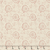 Jo's Shirtings - Floral Glory Parchment Brick Yardage