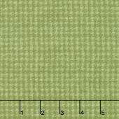 Woolies Flannel - Houndstooth Light Green Yardage