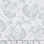 Greenery - Paisley Grey Yardage