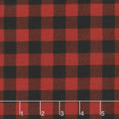 Overnight Delivery - Buffalo Plaid Red Black Yardage