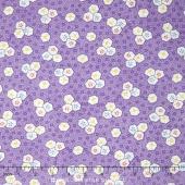 Aunt Grace - Oyster Cracker on Purple Yardage