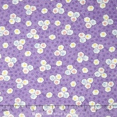 Aunt Grace - Oyster Cracker on Purple Yardage