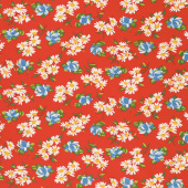 It's Elementary - Garden Blooms Red Yardage