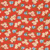 It's Elementary - Garden Blooms Red Yardage